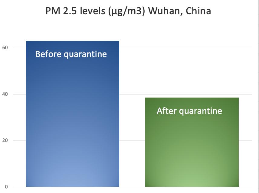 Wuhan pm2.5 histogram averages