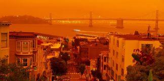 San Francisco in smoke